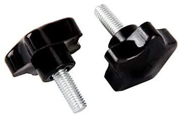20pcs/LOT M8x45mm Male Thread Star Shaped Head 40mm Diameter 5Star Knob Grips Clamping Screw Knob M8XD40X45 - (Color: Black)