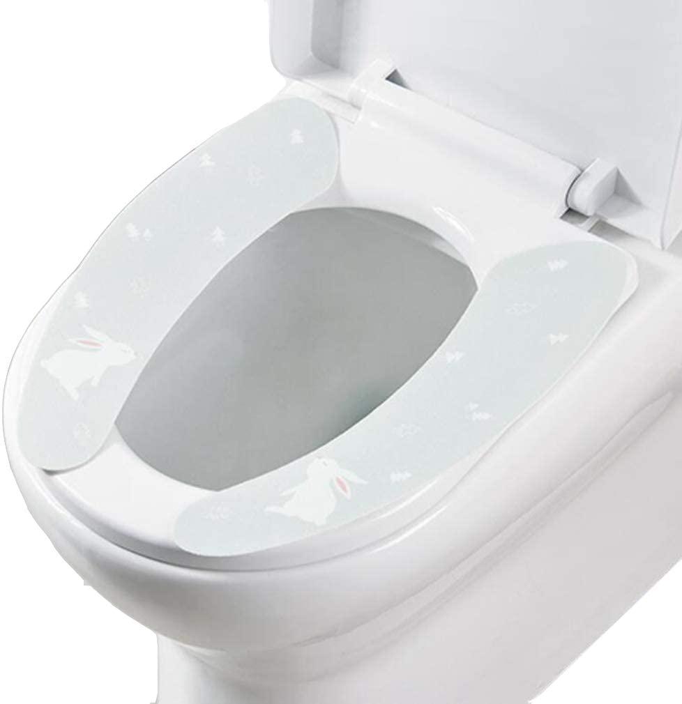 washable Cartoon simple paste toilet seat home toilet sets toilet seat cushion washable toilet cushion (Rabbit)
