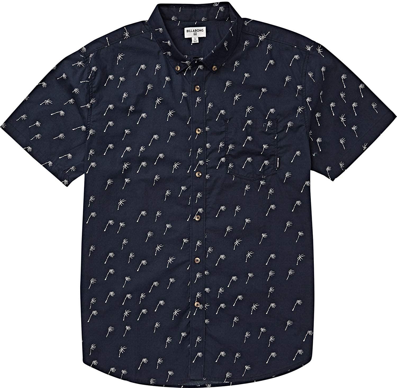 Billabong Boys' Sundays Mini Short Sleeve Shirt Blue X-Large/16