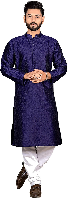 Viva N DivaMen's Tunic Kurta Pajama Set Indian Traditional Wear