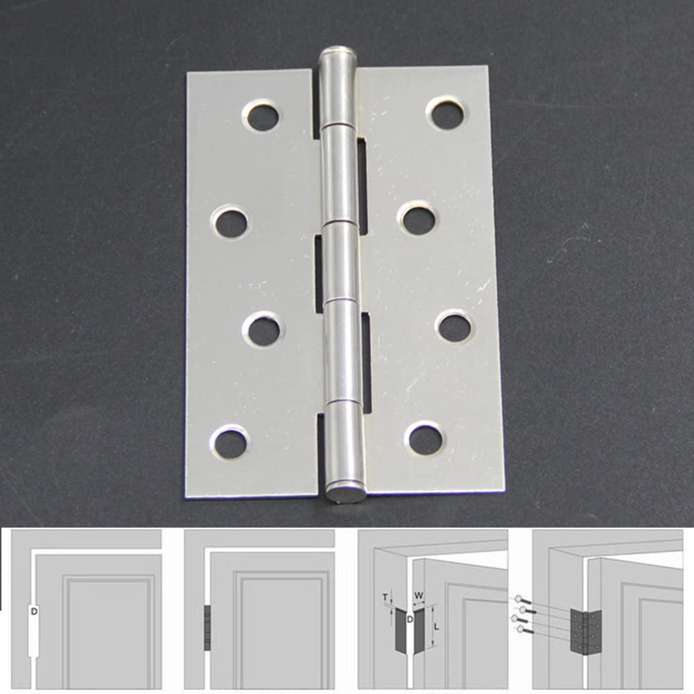 2pcs/Set Stainless Steel Hinges for Furniture Flap Hinge Counter Scharnieren Backflap Hinge Bisagra Scharnier 2 3 4 inch Hinge - (Color: 2 inch)