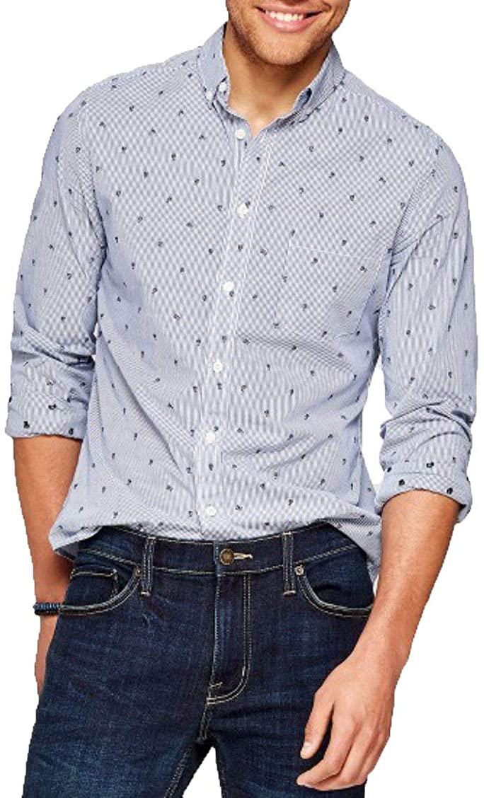 Goodfellow & Co Men's Slim Fit Long Sleeve Button Down Shirt -