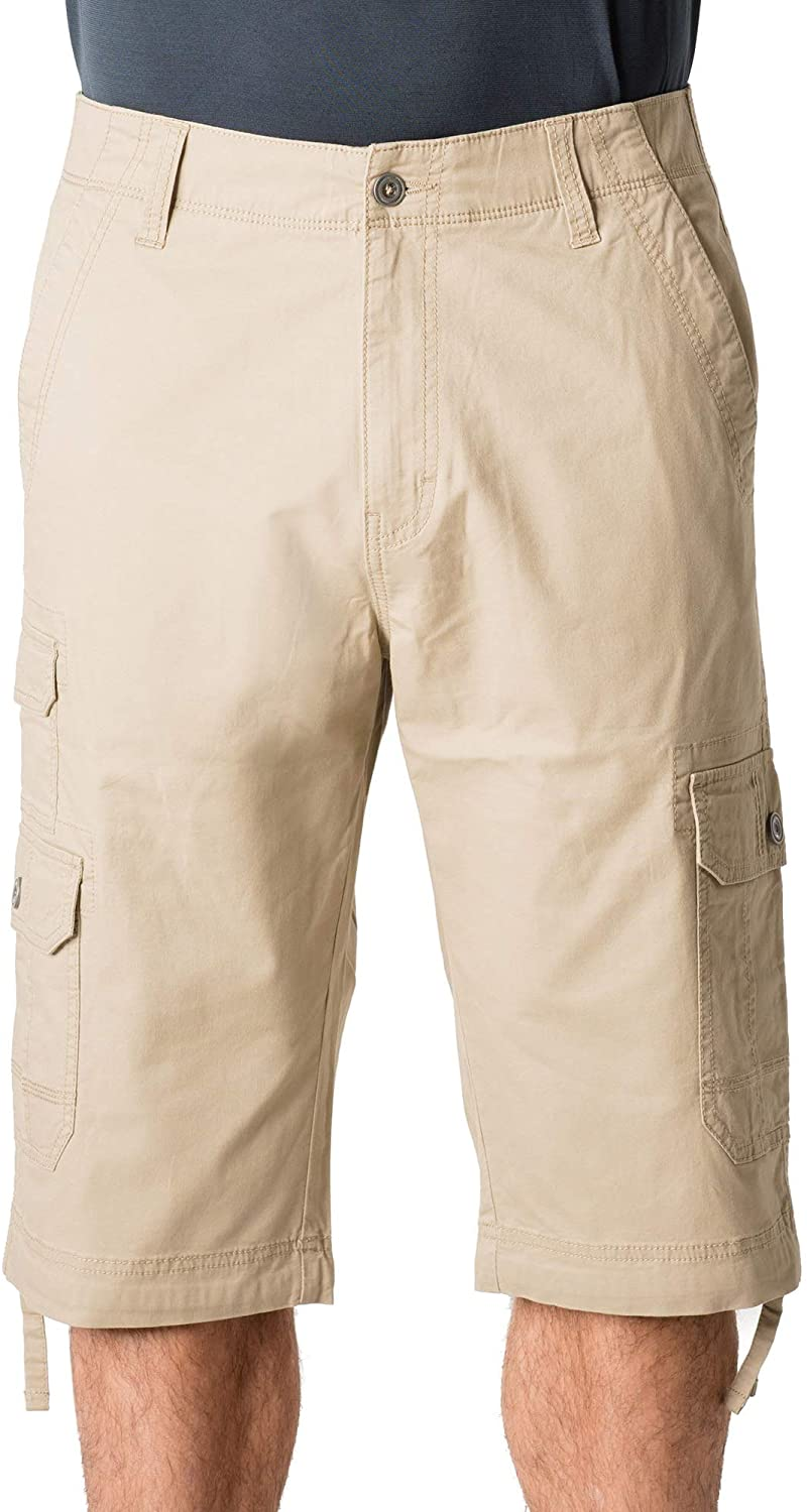 George Clothing Men's Below The Knee Messenger Cargo Shorts