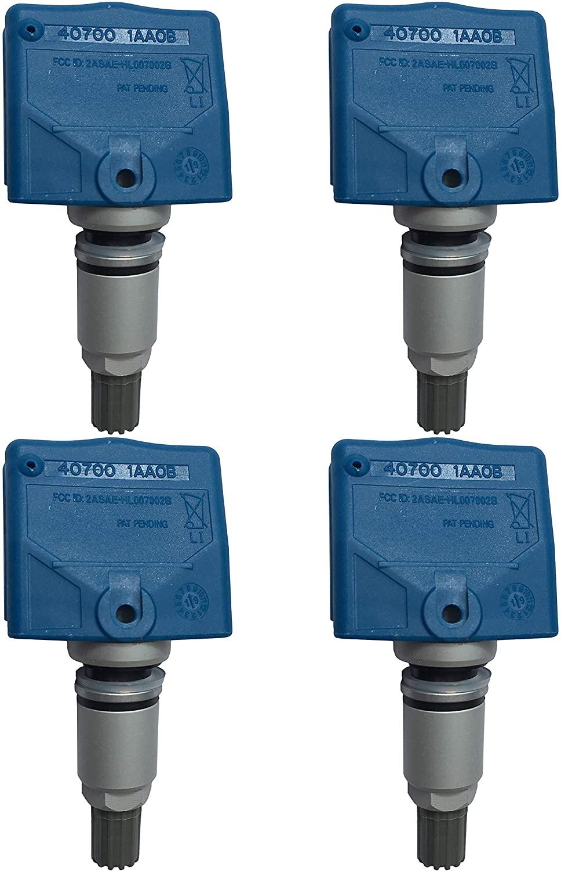 GoSens 315Mhz TPMS Sensor Tire Pressure Monitoring System Sensor for Infini Niss OE Replacement x 4 sensors - Aluminum stem Valve
