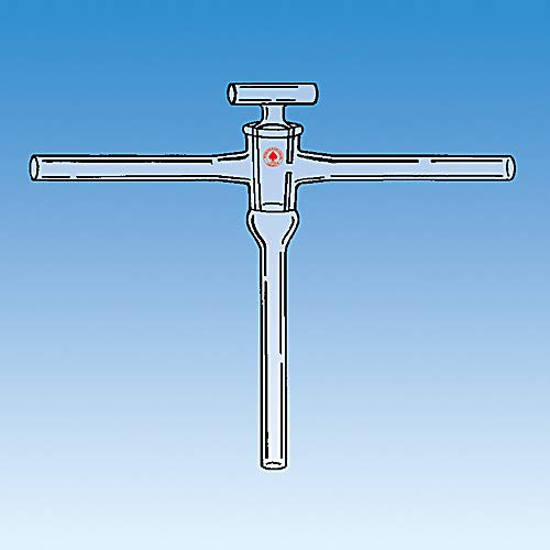 ACE GLASS 8199-08 High Vacuum Stopcock with Hollow Plug, 6 mm Size