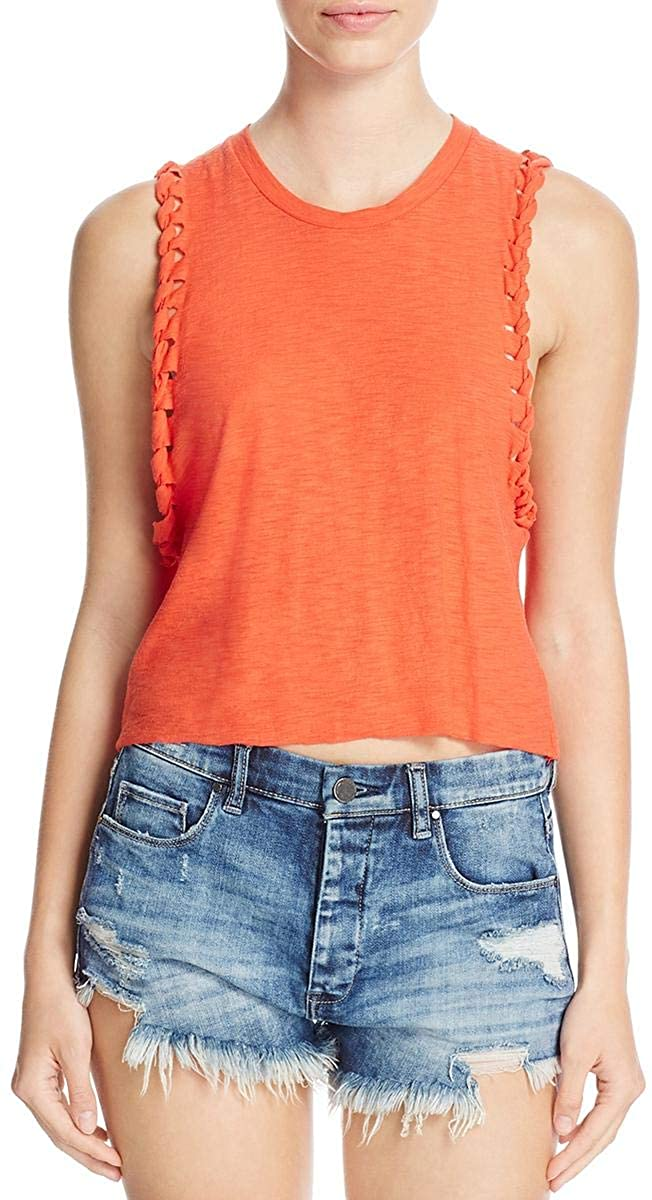 Michelle By Comune Womens Tipton Burnout Cut Out Tank Top