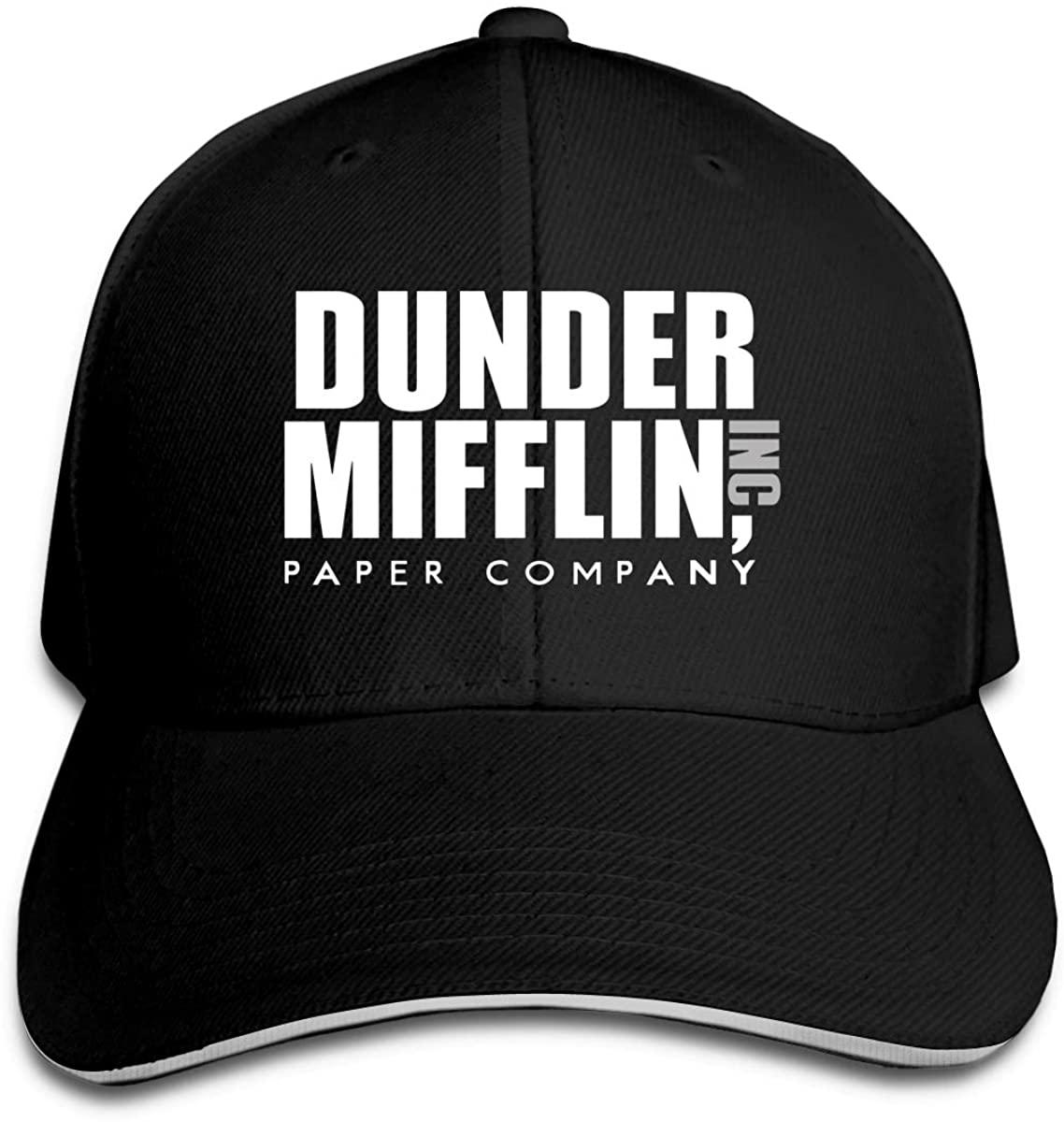 Dunder Mifflin Paper Lnc Women's and Boy Fashion Pointed Cap Cricket Cap