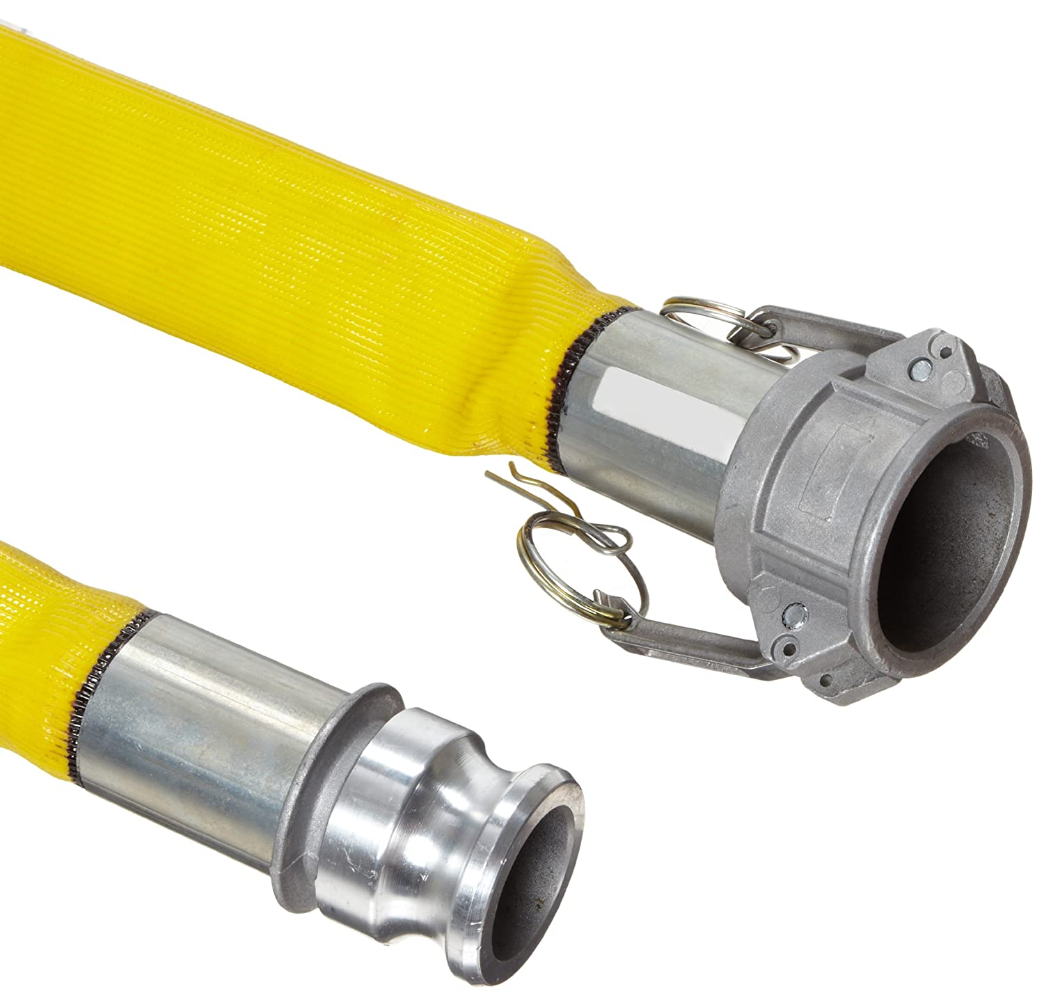 Goodyear EP Spiraflex Yellow PVC Suction/Discharge Hose Assembly, 1-1/2