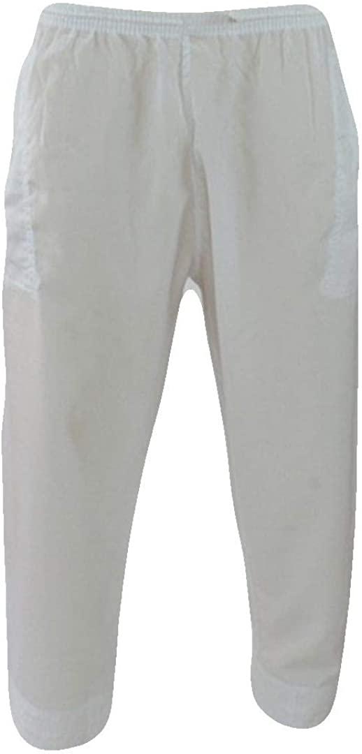 Desert Dress Mens White Trousers Pants Thobe Bottoms Islam Pyjamas Salwar Arab