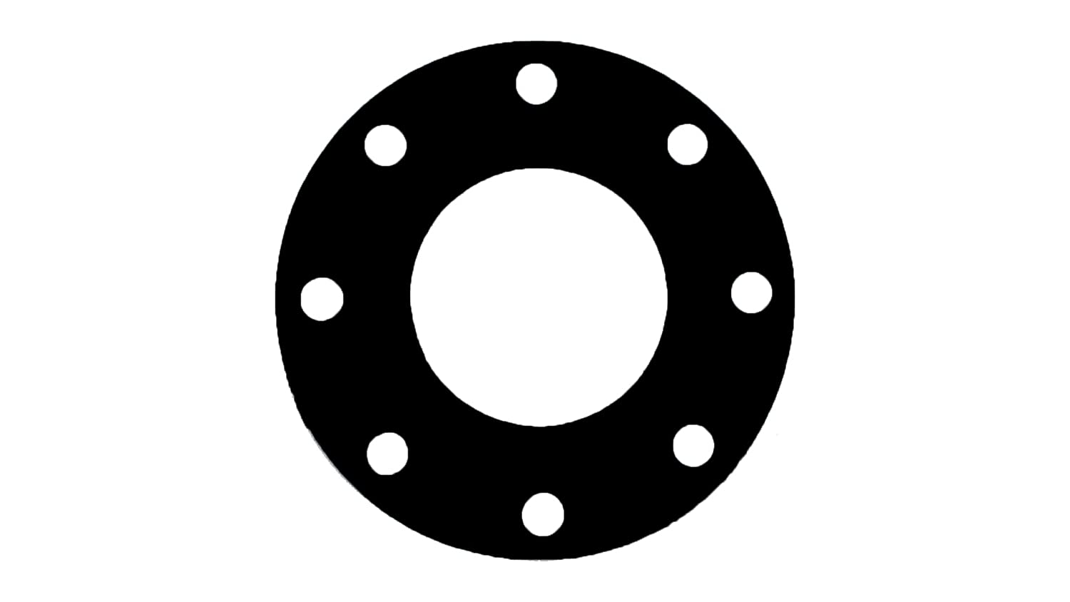 Sterling Seal & Supply, Inc.  CFF7106.1600.125.150X1 7106 Rubber 60 Durometer Full Face Gasket, 16