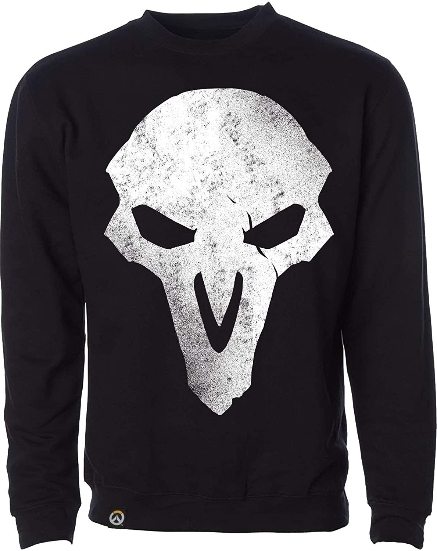 JINX Overwatch Men's Reaper Crew Neck Pullover Sweatshirt