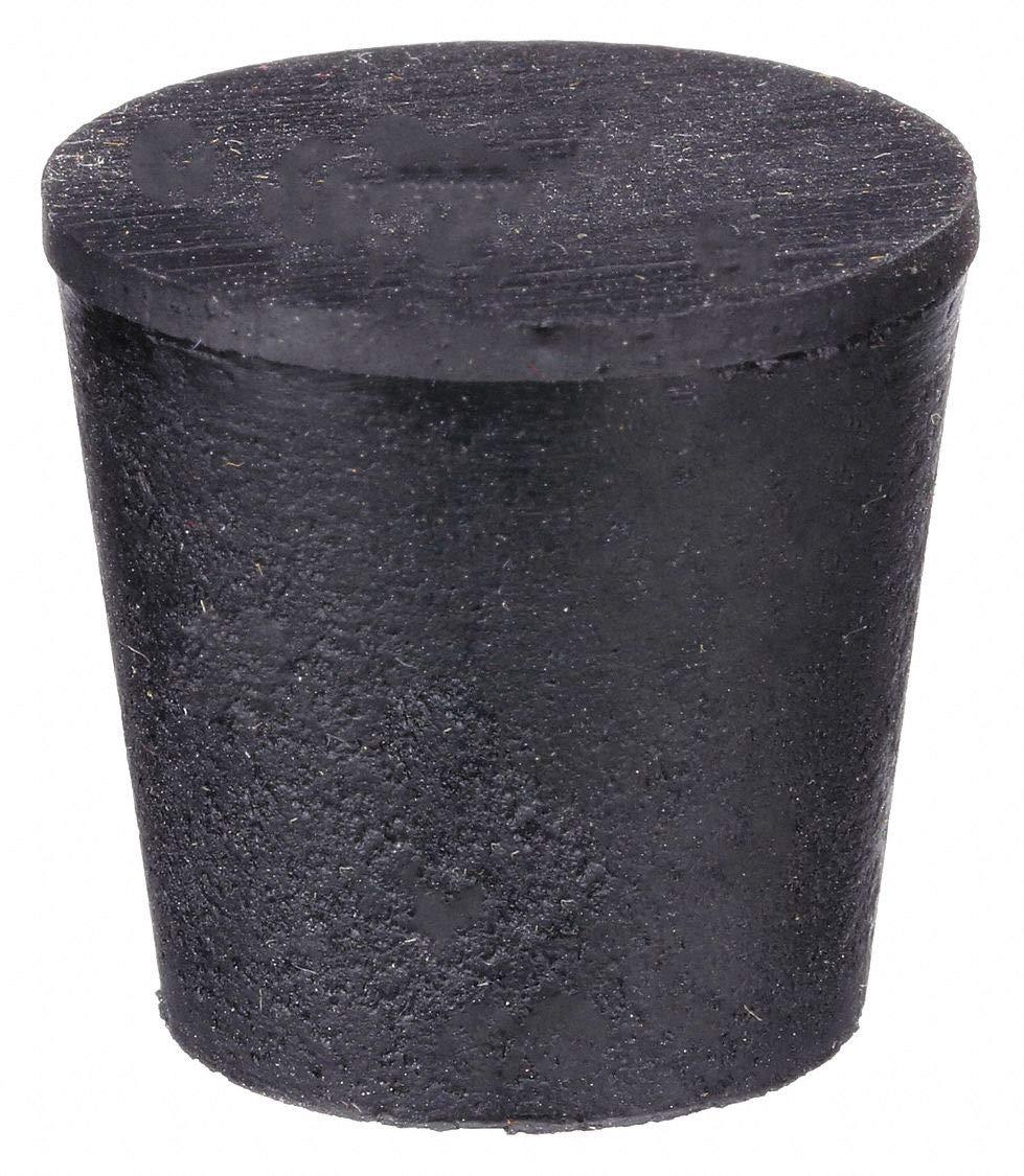 United Scientific Supplies Inc. Stopper, 25mm, Black, PK24 Black RST5-S - 1 Each