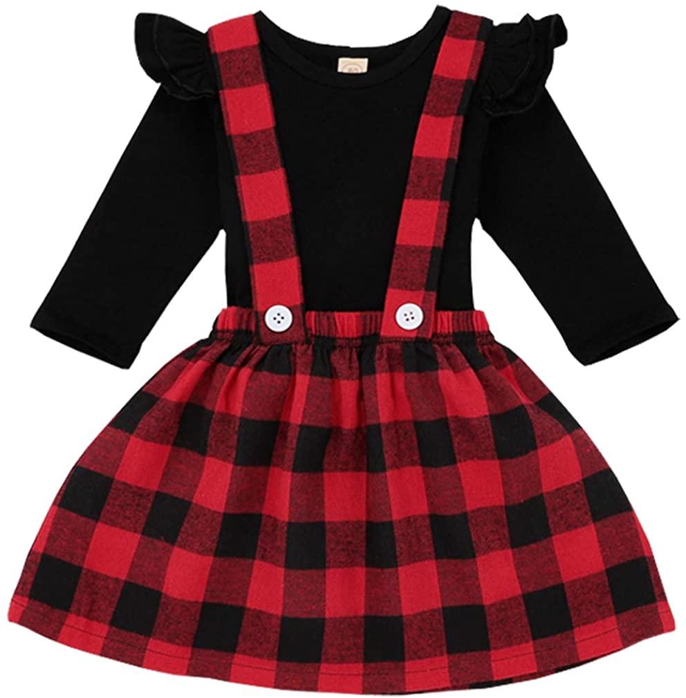 Baby Girls Infant Clothing Set Long Sleeve Skirt T Shirt Kids Toddler Children Tops Outfits