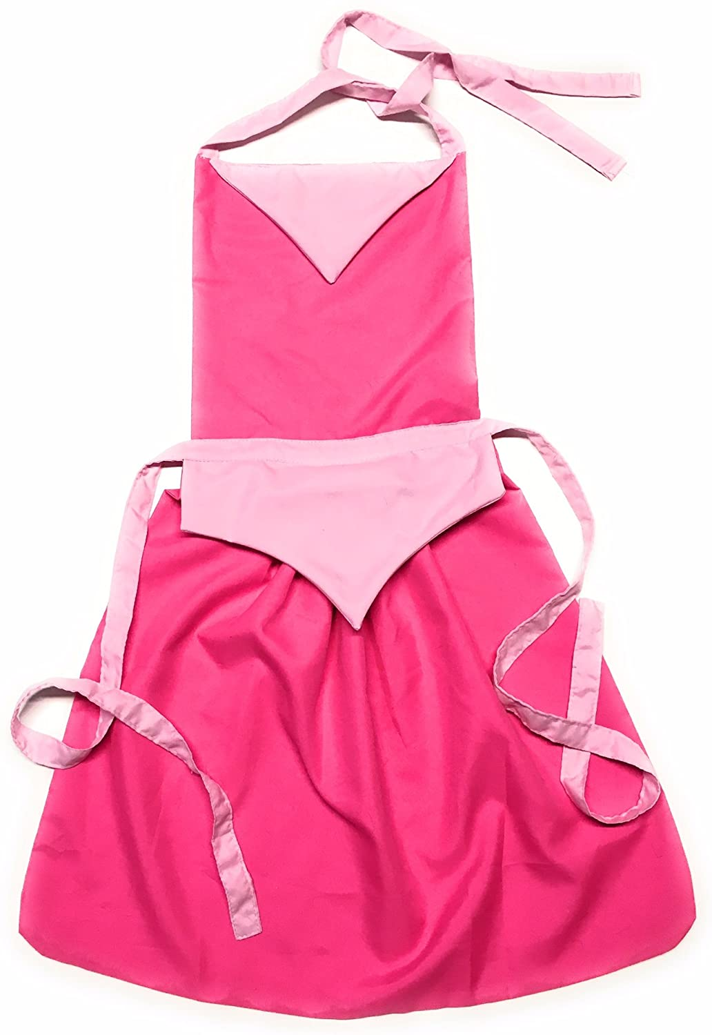 Tiffany Louis Sleeping Beauty Inspired Best Princess Apron Dress Up Clothes for Little Girls Pretend/Baking/Painting