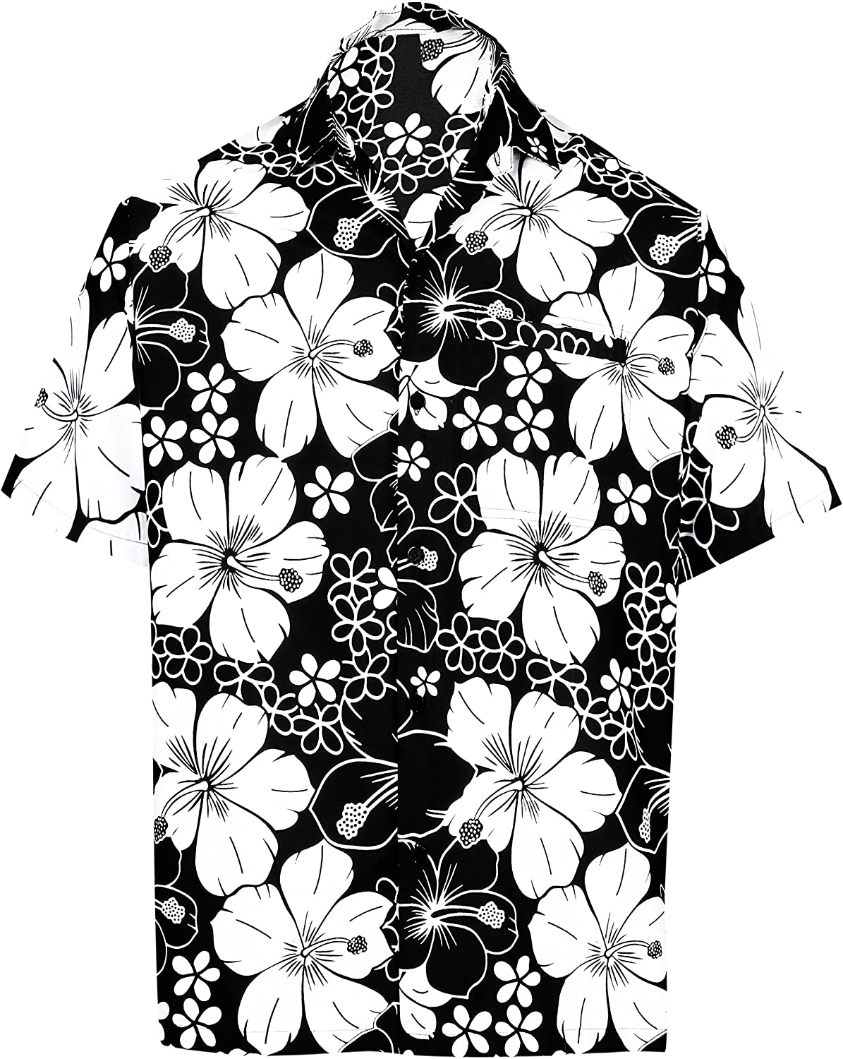 LA LEELA Men's Classic Cool Shirt Fashion Short Sleeve Hawaiian Shirt