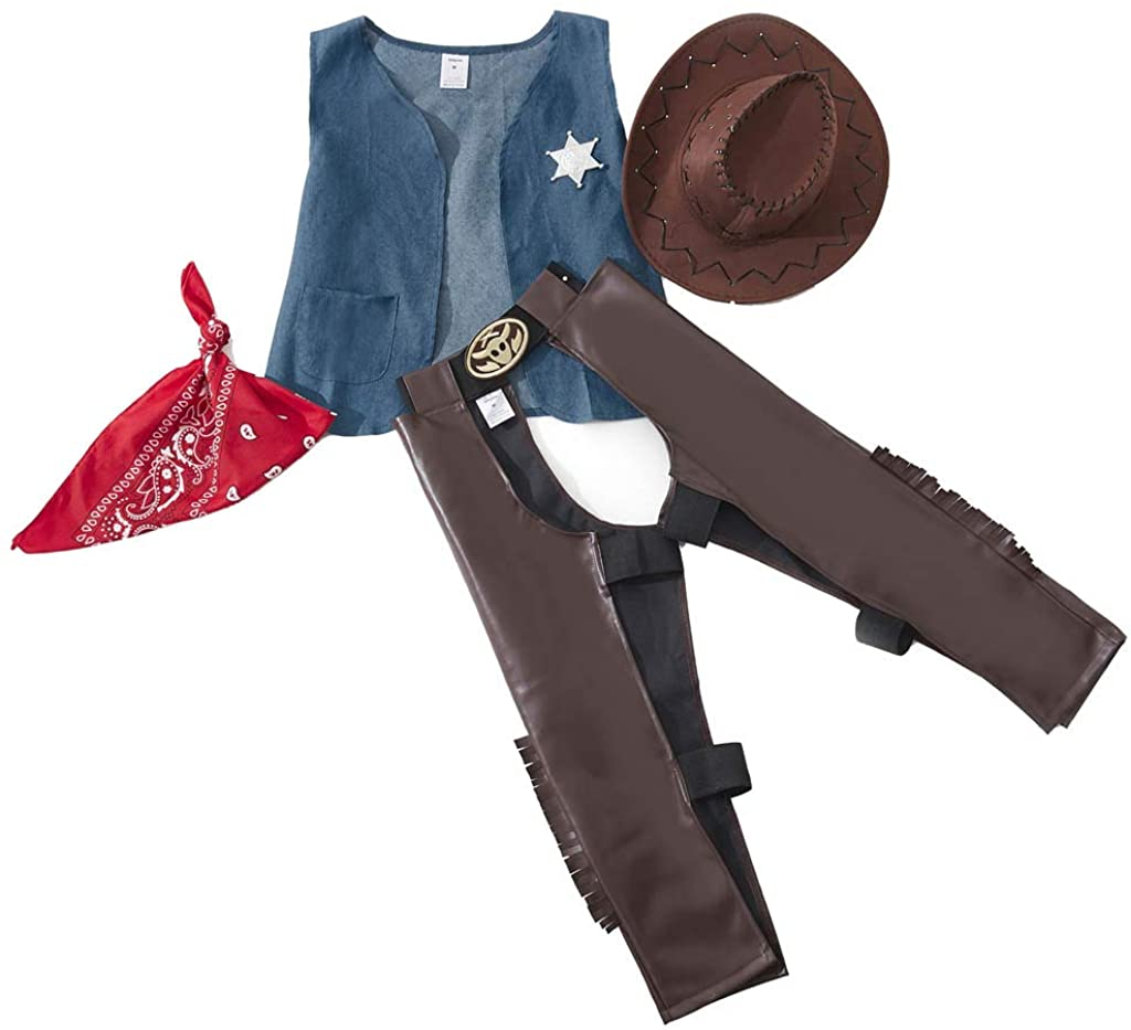 Meeyou Cowboy Costume Set,Role Play for Boys