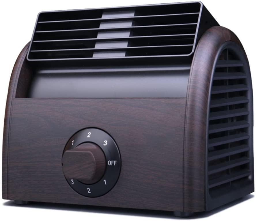 SL&LFJ Dark Brown Portable Office air Conditioner Fan,Home Outdoor Travel use Mini Desktop bladeless Dual-use USB Summer Cooling Fan-A 19x15x15cm(7x6x6inch)