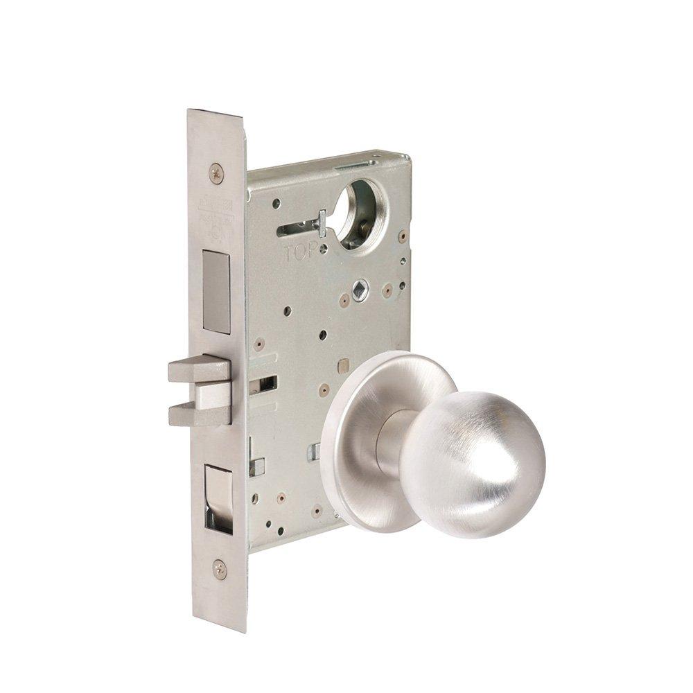 CORBINRUSSWIN ML2048-GRC-626-LC 626 Satin Chrome, Knob GRC Global, Entrance/Entry/Office, Steel; Stainless Steel; Brass