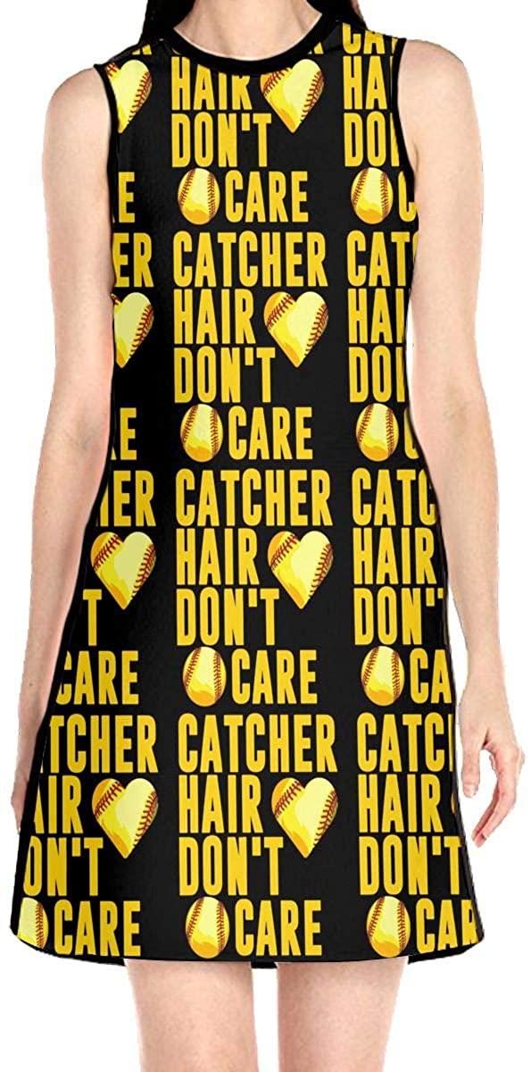 WAYMAY Catcher Hair Don't Care. Dress Sleeveless A-Line Dress Tank Dresses Elegant Dress
