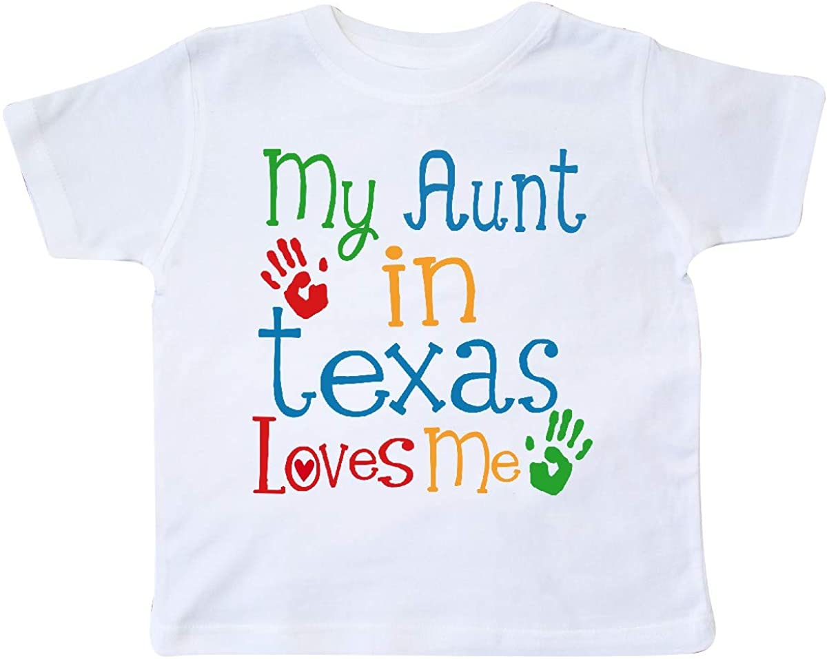 inktastic My Aunt in Texas Loves Me Toddler T-Shirt