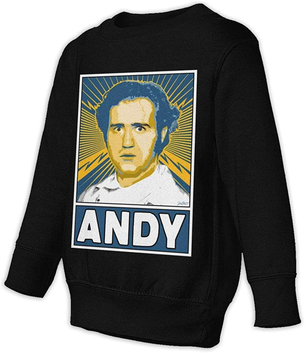 Manbeak Andy Kaufman Unisex Sweatshirt Youth Boy and Girls Pullover Sweatshirt Black