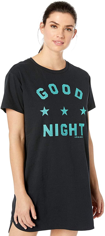 Life is Good Womens Womens Snuggle Up Pajamas Sleep Shirt Dress