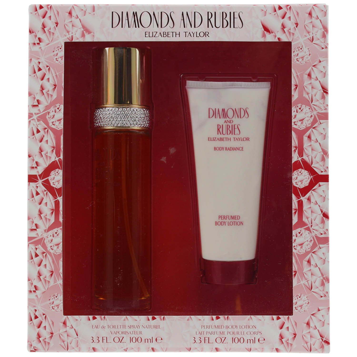 Diamonds And Rubies By Elizabeth Taylor For Women - 2Pc Gift Set