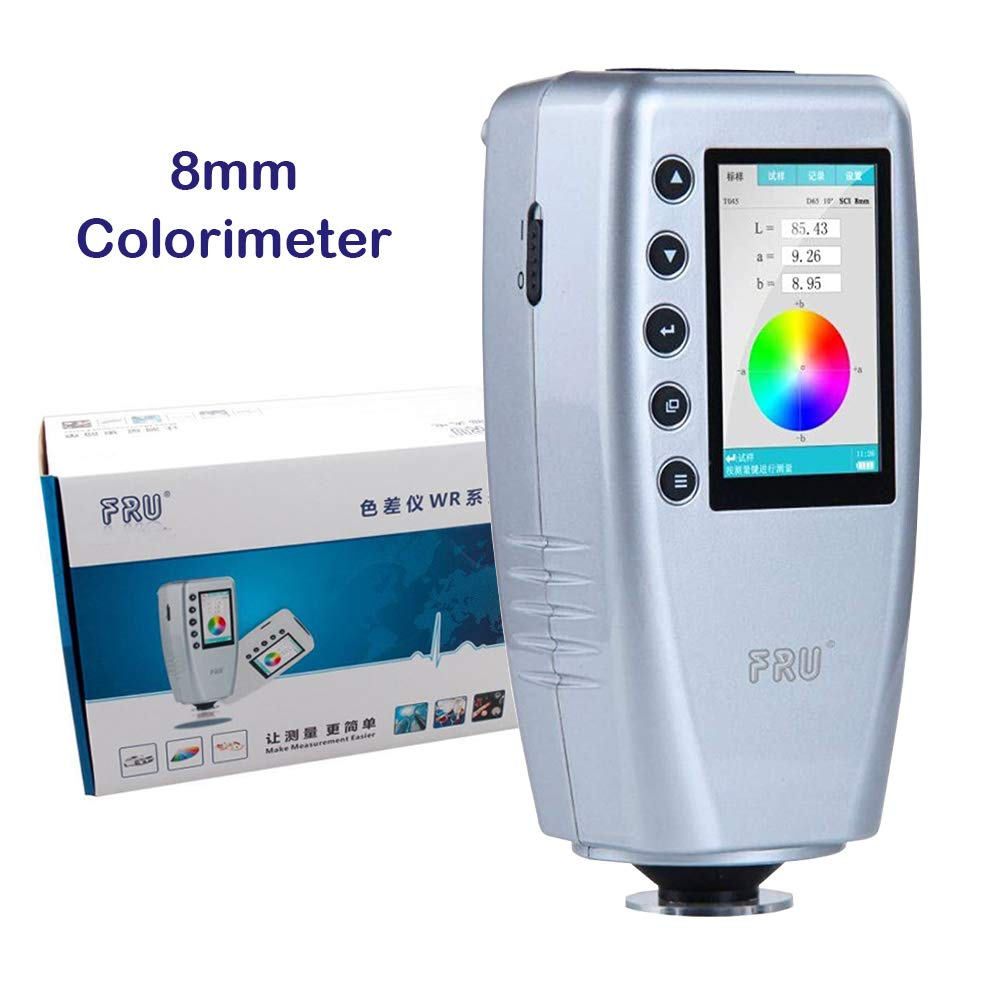 YFYIQI Precise 8mm Colorimeter Color Meter Color Difference Meter Tester Analyzer with 10000 Data Storage Function and TFT Color Screen