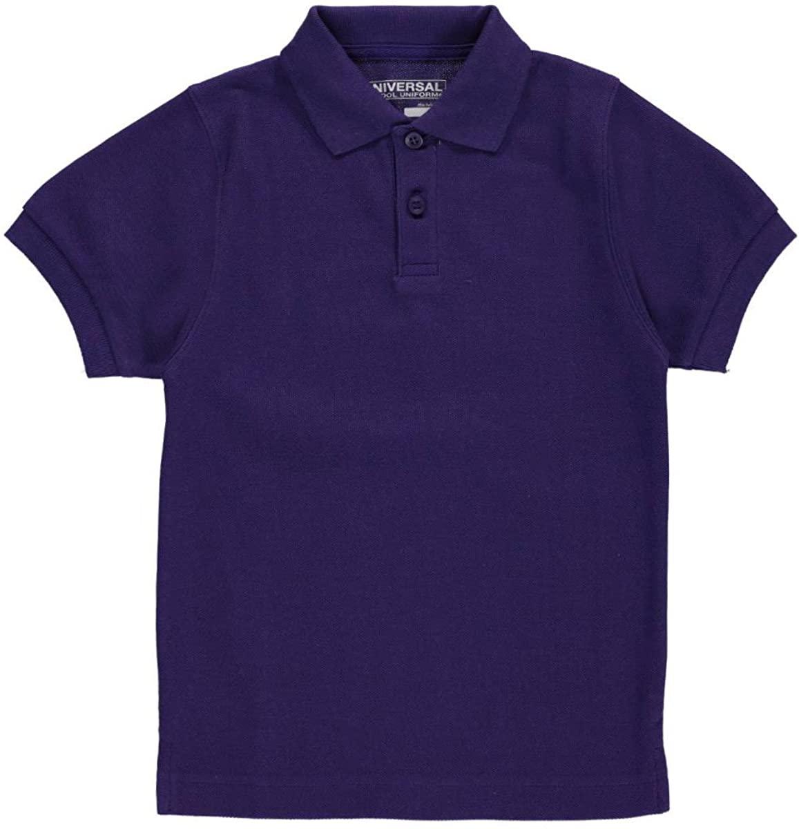 Universal Unisex S/S Pique Polo - Purple, 3t