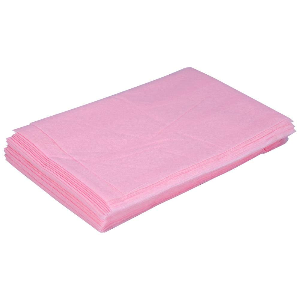 Beauty Sheet Cover, 10 Pcs 18080cm Non-Woven Disposable Waterproof Bed Sheet Massage Beauty Cover (Pink)