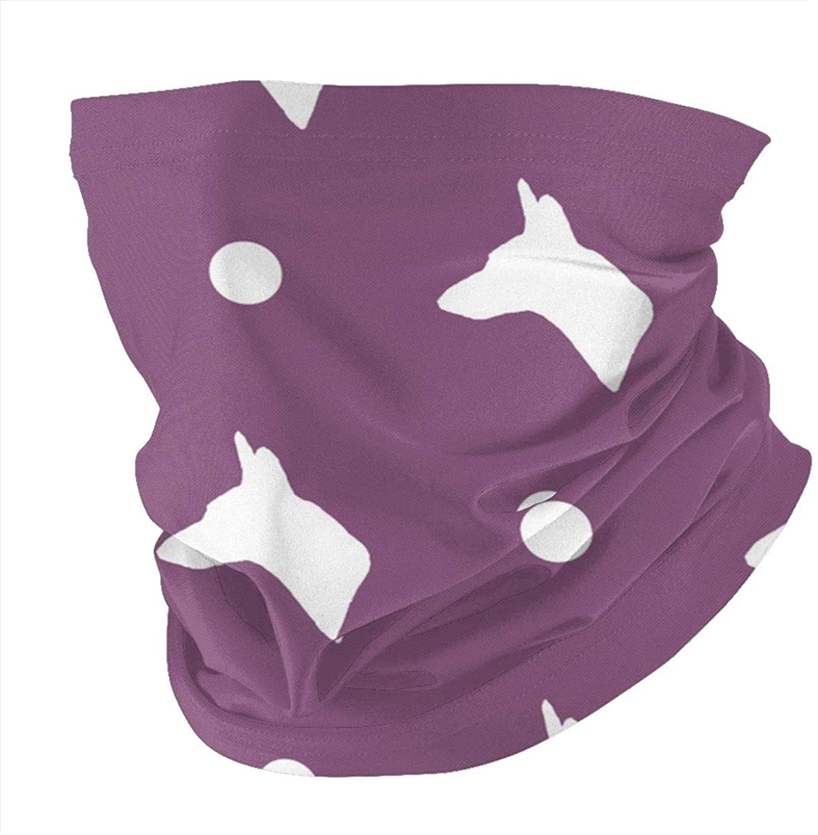 Carolina Dog Silhouette And Polka Dots In Purple PlumVariety Head Scarf Korn Scarves, face Towels, veils, Masks, Wristbands, Hair Bands, Pirate Hats, Riding Masks
