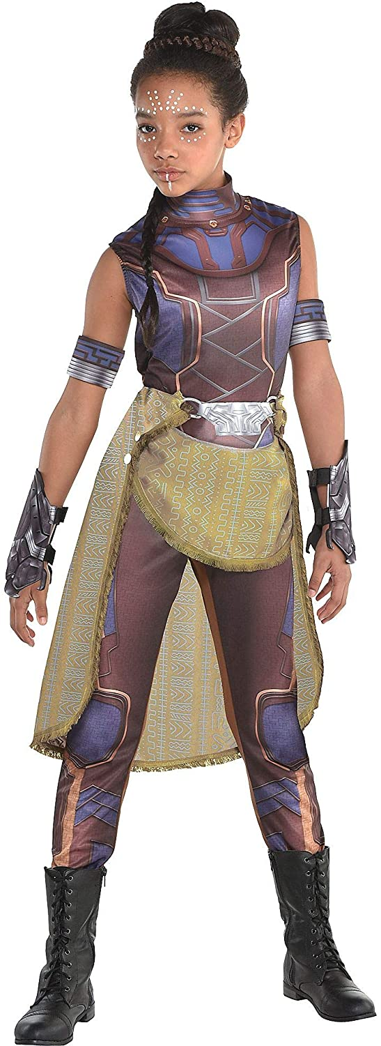 Costumes USA Black Panther Shuri Costume for Girls, Includes a Catsuit, Arm Bands, Gloves, and a Belt
