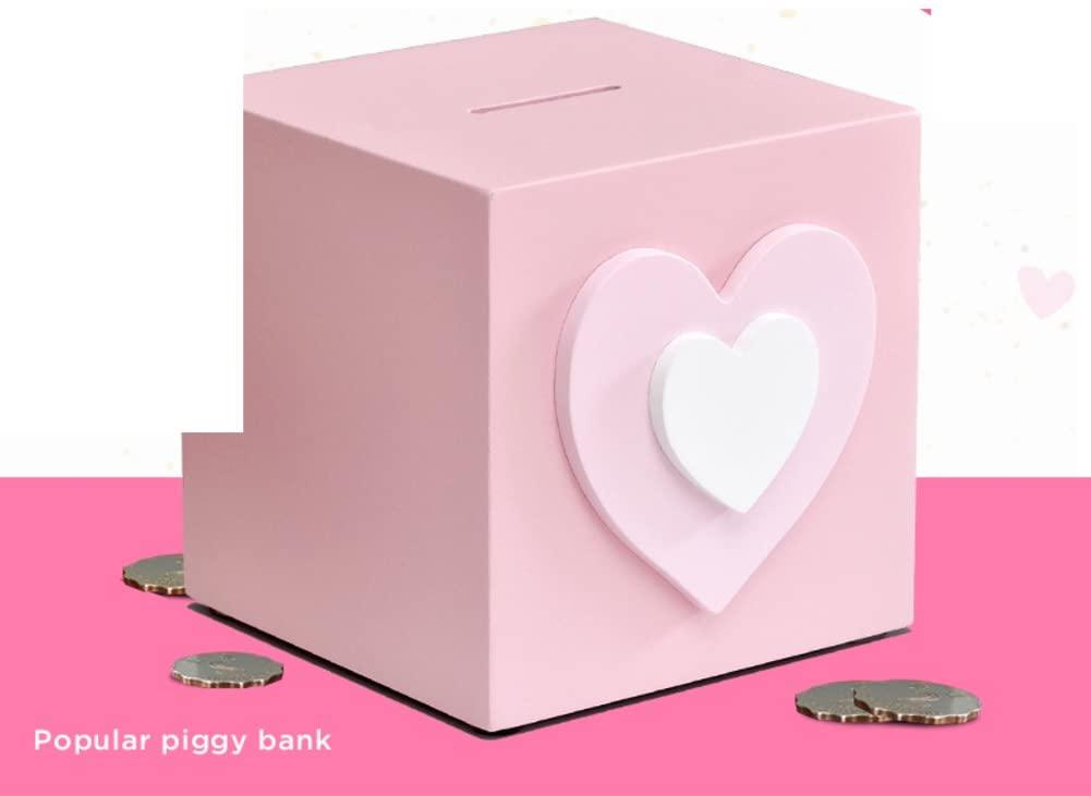 BABAPIGGYBANK Creative Child Piggy Bank Cute Girl Heart Money Tank Cartoon Coin Cylinder Piggy Bank-A