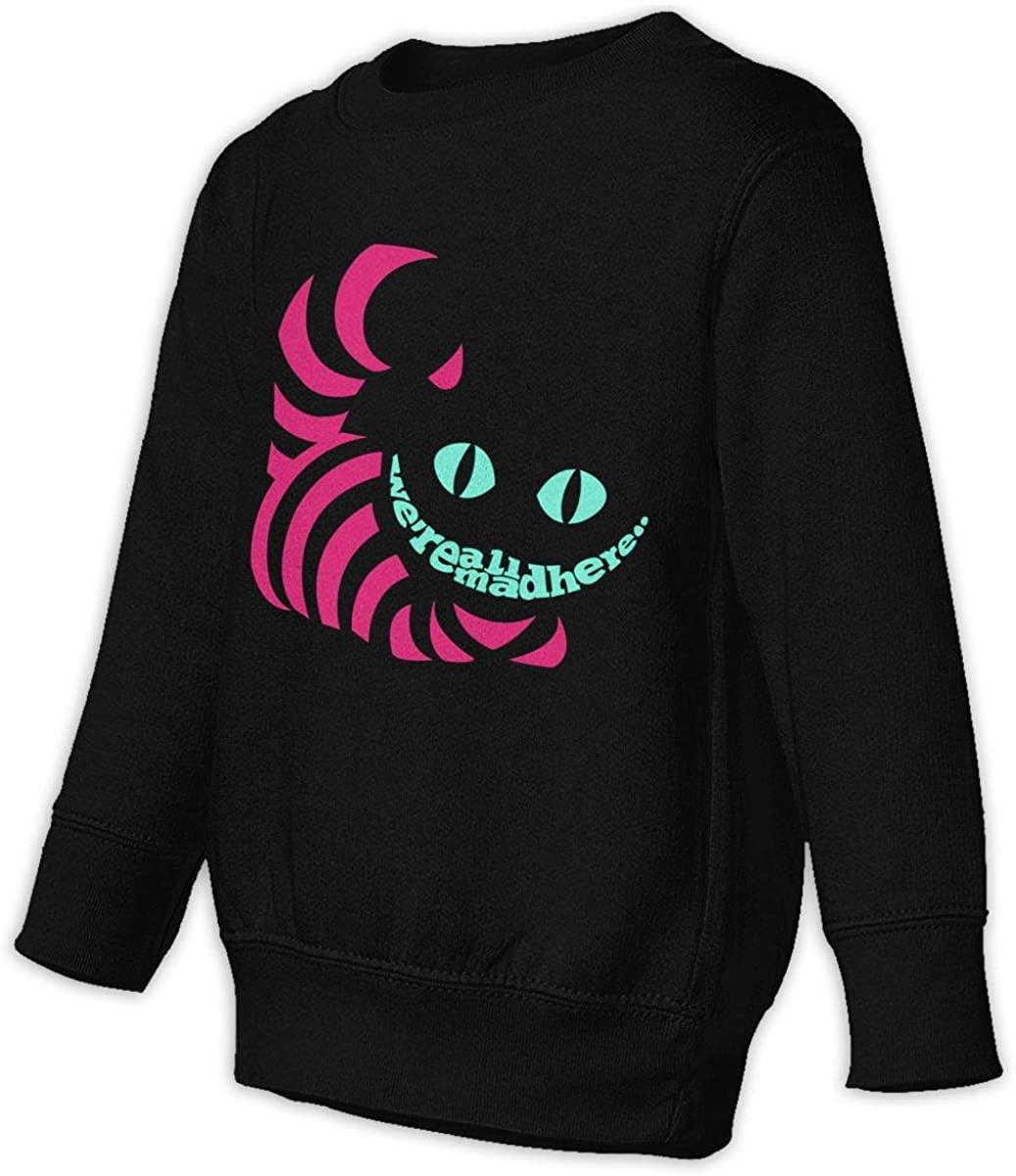 Alice in Wonderland Cheshire Cat Unisex Sweatshirt Youth Boy and Girls Pullover Sweatshirt Black