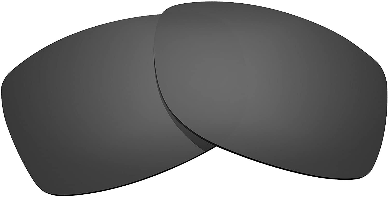 Littlebird4 1.5mm Polarized Replacement Lenses for Oakley Jupiter Squared Sunglasses with UV Protection-Dark Black