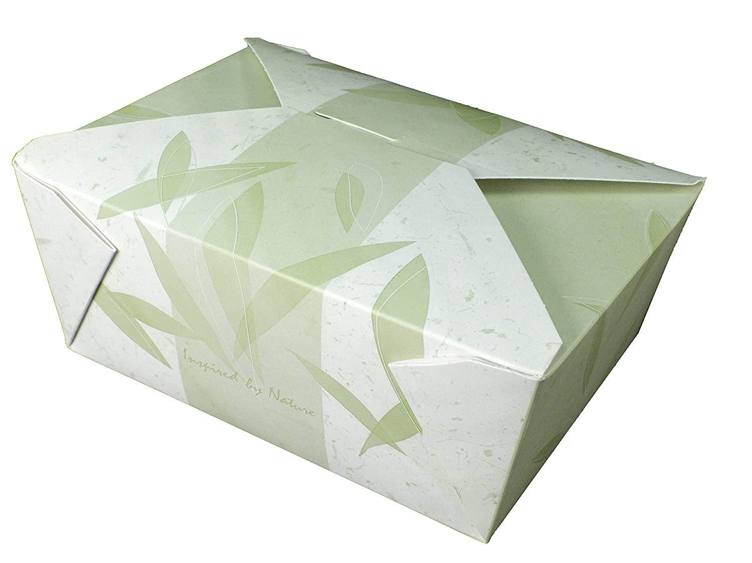 Fold-Pak Bio-Pak 04BPNATURM Inspired by Nature Print Paper Carry-Out/To-Go Container, 7-3/4