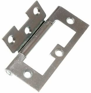 100 x CABINET DOOR FLUSH HINGES BZP PLATED STEEL 75MM (3 inch)