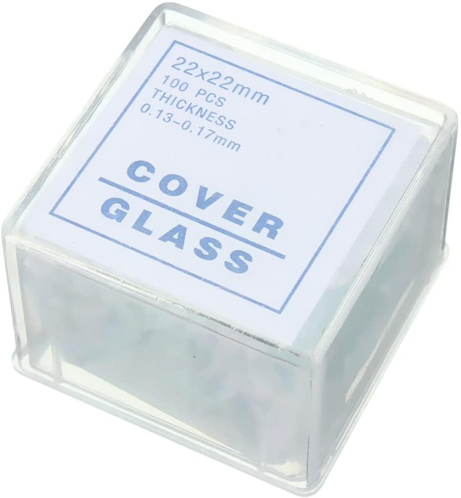 Essenc 100pcs Transparent Slides Coverslips Coverslides 22x22mm for Microscope