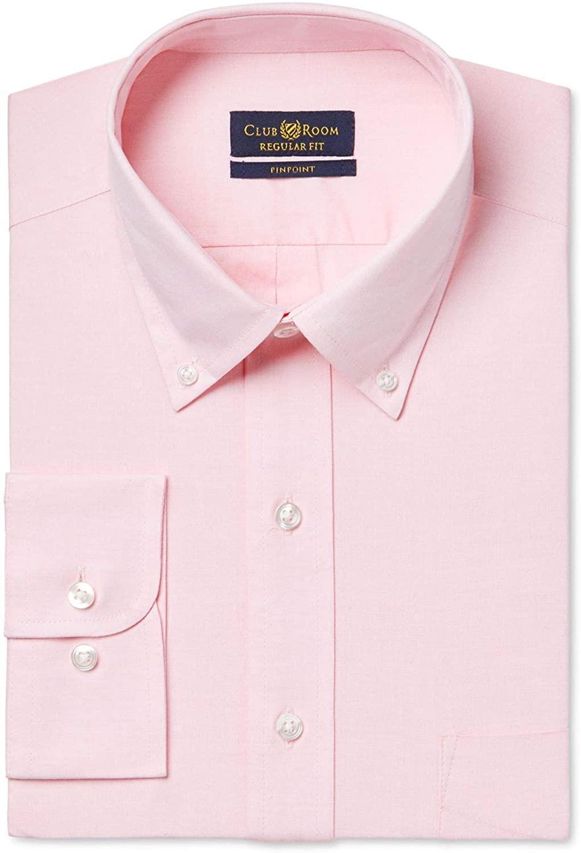 Club Room Mens Classic-Fit Button Up Dress Shirt