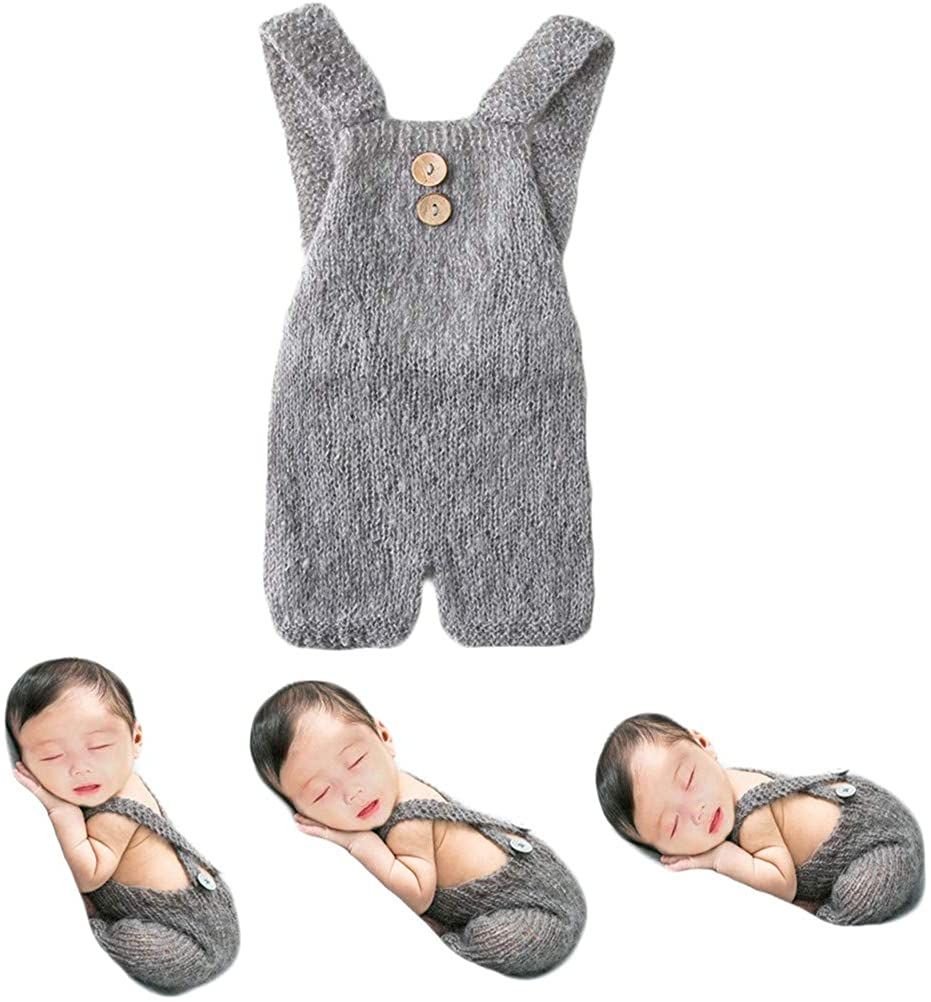 Baby Photography Props Boy Girl Photo Shoot Outfits Newborn Crochet Costume Infant Knitted Clothes Mohair Rompers