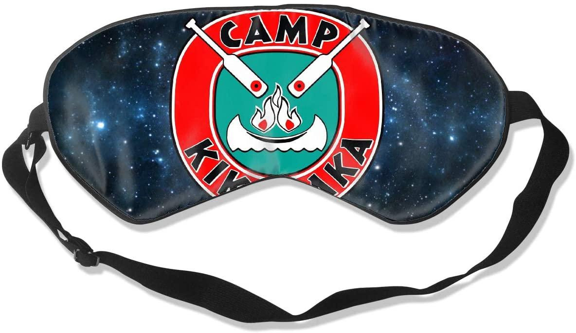 WushXiao Luanelson Camp Kikiwaka Fashion Personalized Sleep Eye Mask Soft Comfortable with Adjustable Head Strap Light Blocking Eye Cover