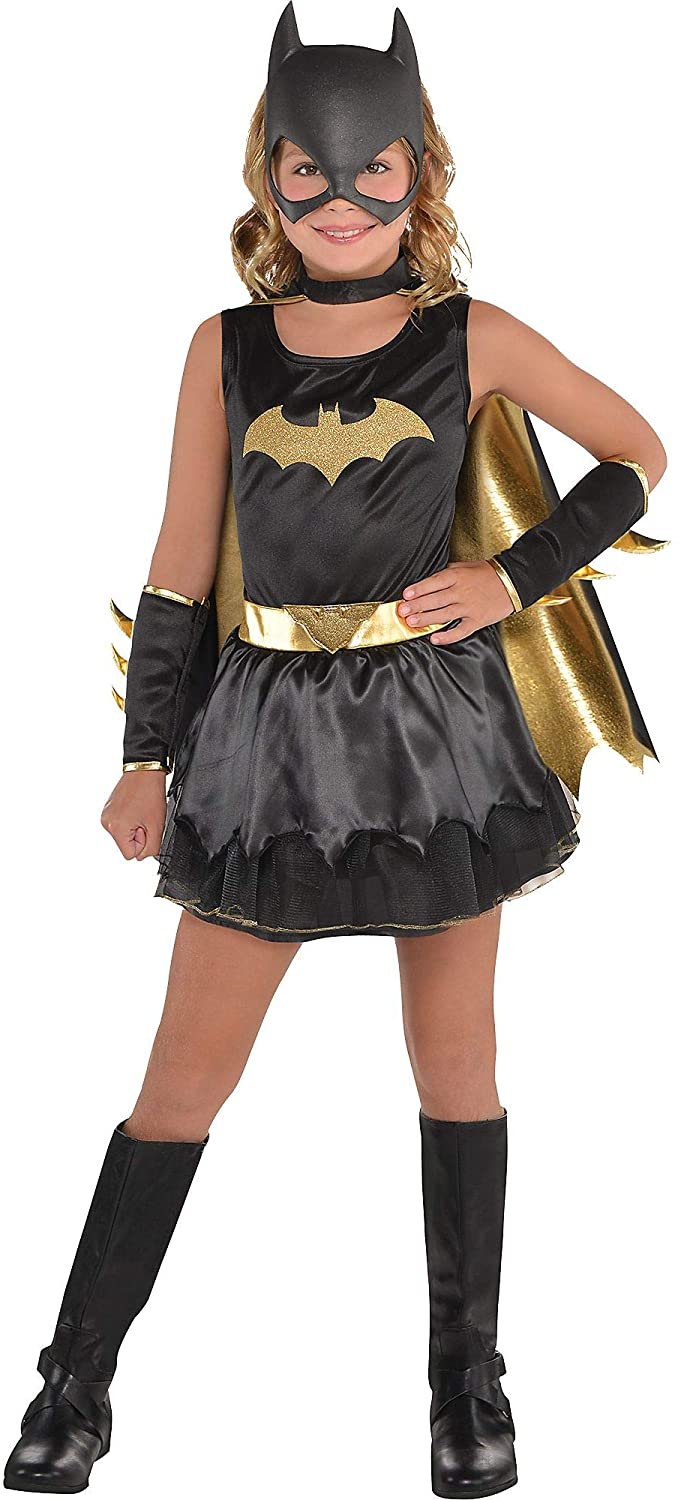 Costumes USA DC Comics: The New 52 Batgirl Costume for Girls, Includes a Dress, Mask, Cape, and Gauntlets