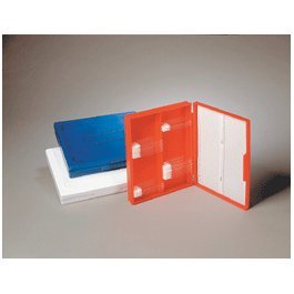 Heathrow HS15991A Microscope Slide Box, 100-Place, Blue