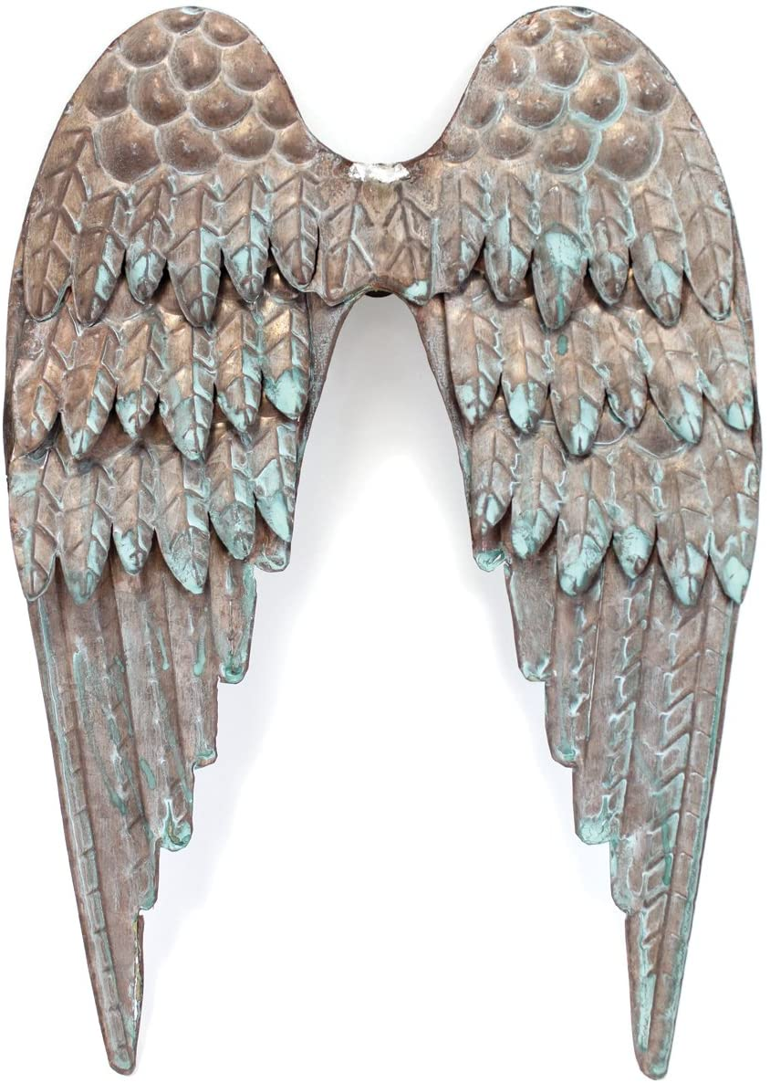 BCI Crafts Salvaged Metal Angel's Wings, 0.45000000000000007 x 7.15 x 10.4 cm, Multicoloured
