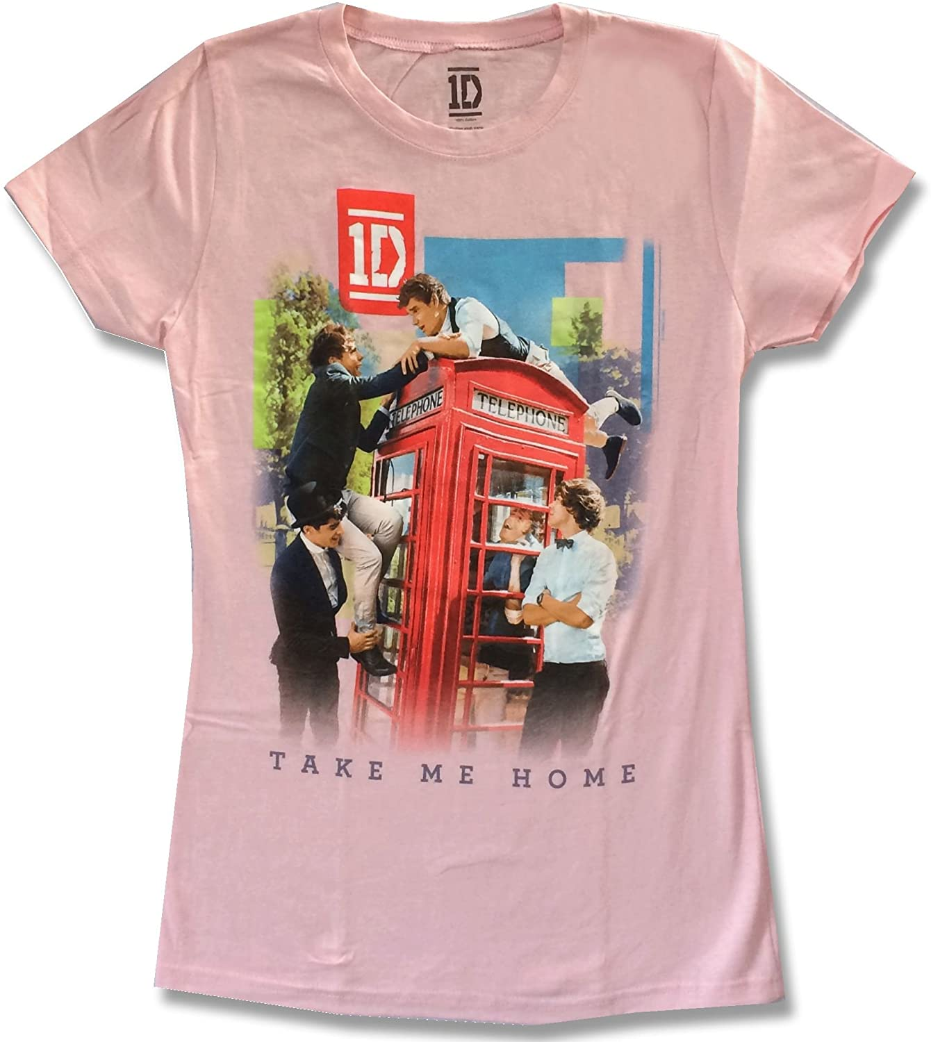 One Direction Take Me Home Girls Juniors Pink T Shirt