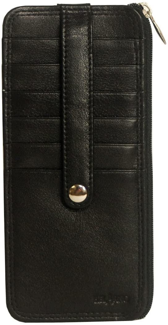 Belarno A239 Leather Card Stacker holder Black Solid