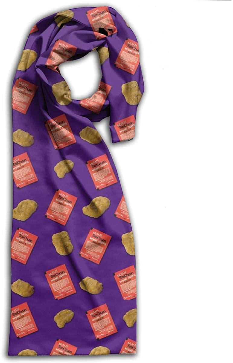 Szechuan Sauce Nuggets Pattern Adult Scarf Winter Warm Wraps Shawls Neckerchief