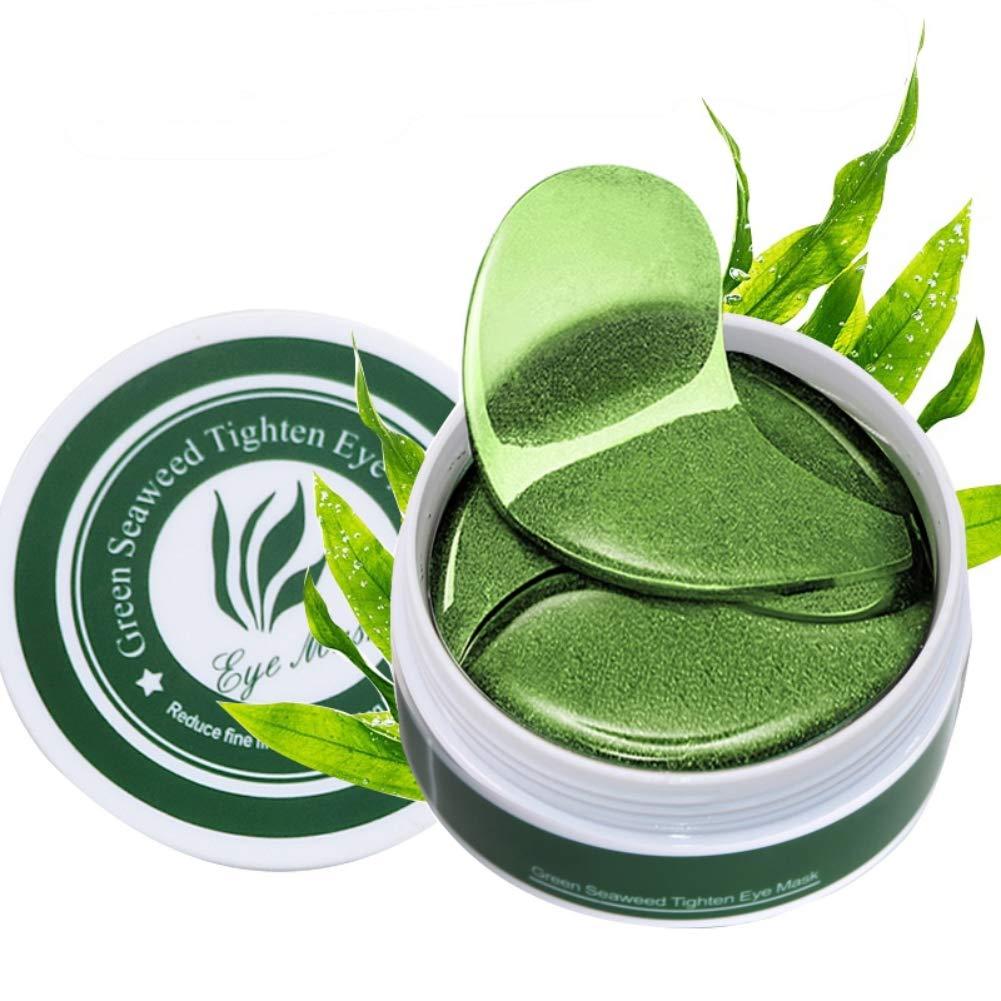 Ofanyia Green Seaweed Eye Masks 30 Pairs Hydrating Remove Dark Circles, Eye Bags and Fine Lines Anti Aging Eye Mask Eye Patches