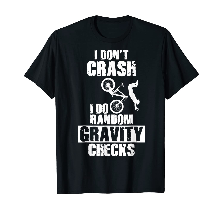 Crash Gravity Checks Mountain Bike T-Shirt