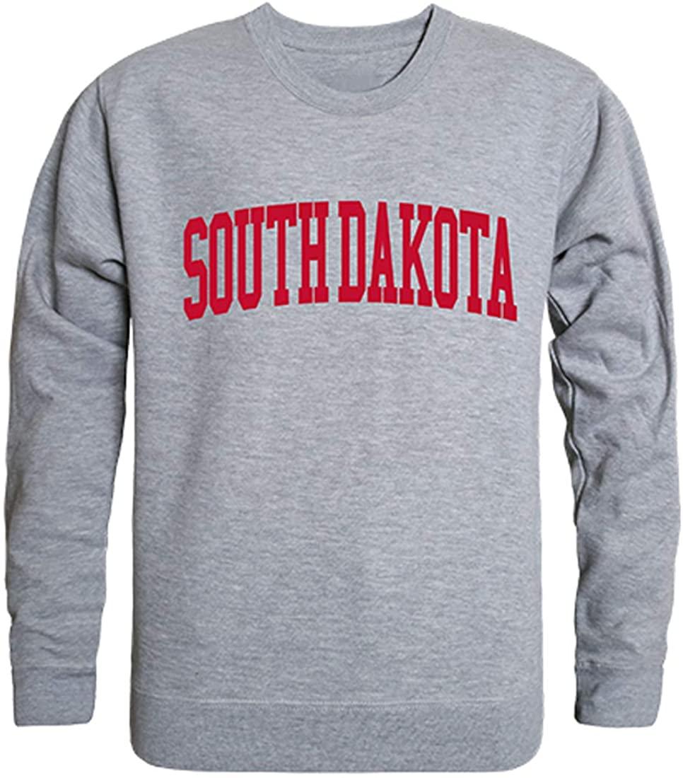 W Republic USD University of South Dakota NCAA Men's Game Day Crewneck Fleece Sweatshirt
